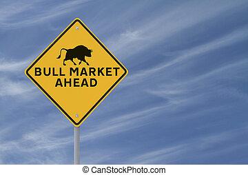 marché hausse, devant