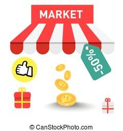 marché, icône
