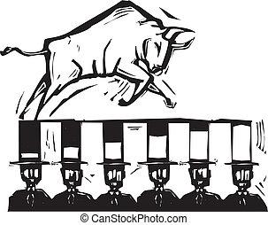 marché, taureau