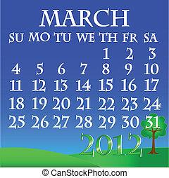 March 2012 landscape calendar