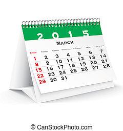 March 2015 desk calendar