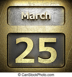 march 25 golden sign