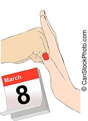 March 8 against violence