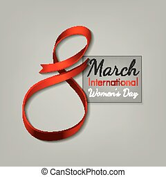 March 8 Ribbon