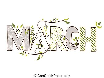 Month Of March Clipart
