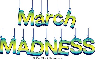March Madness Hanging Banner
