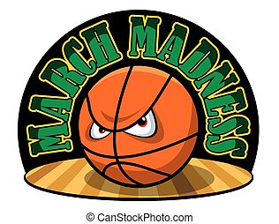March Madness - Vector illustration of a March Madness logo.