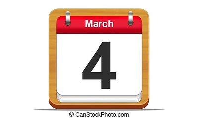 March. - March calendar.