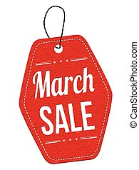 March sale label or price tag