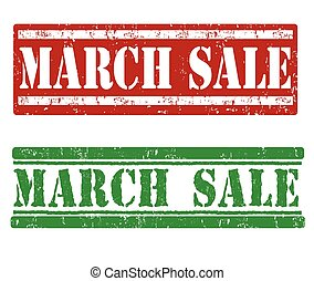 March sale stamp