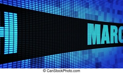 March Side Text Scrolling LED Wall Pannel Display Sign Board...