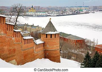 March view Nizhny Novgorod Kremlin Russia