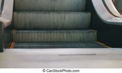 marche, achats, escalatorlift, gens, centre commercial, anonyme