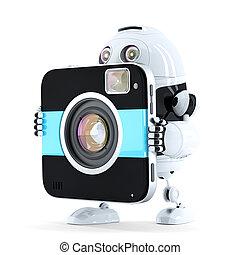 marche, appareil photo, robot, numérique