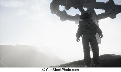 marche, astronaute, planète, mars