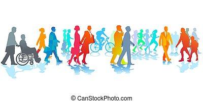 marche, city.eps, gens