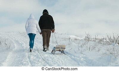 marche couples, vue postérieure