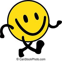 marche, expression, heureux
