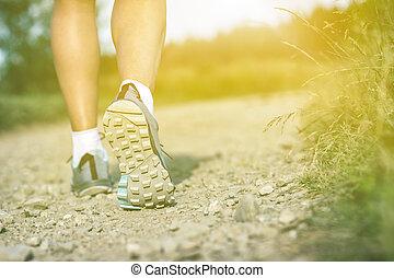 marche femme, insports, chaussures, sport aptitude, dehors