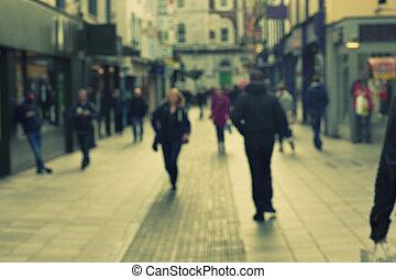 marche, gens rue