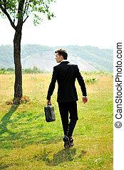 marche, homme affaires