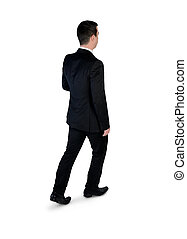 marche homme, business, dos