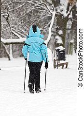 marche, nordique, neige