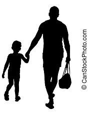 marche, père, fils