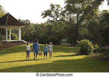 marche, park., famille