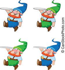marche, plateau, gnome