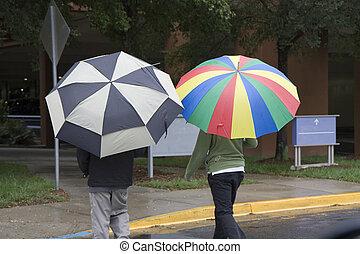 marche, pluie