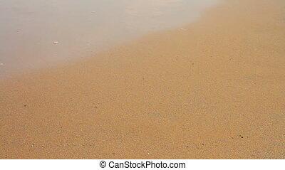 marche, sable, gens