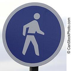 marche, seulement, sighn