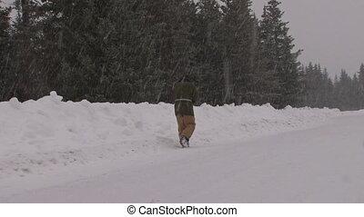 marcheur, #2, 3, neige, route