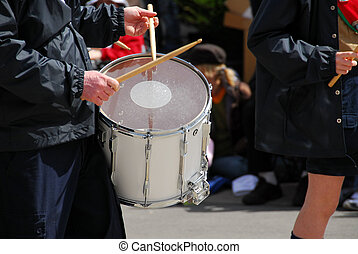 Marching band drums - Marching band playing drums