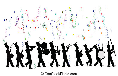 marching banda, celebrazione