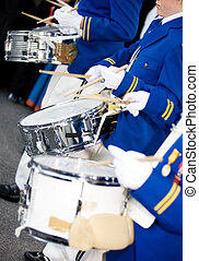 Marching Drummers - Marching drummers in a parade