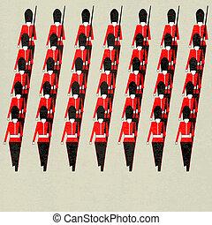 Marching Guardsmen - Guardsmen for a Royal event or Jubilee