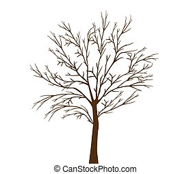 marchito, árbol