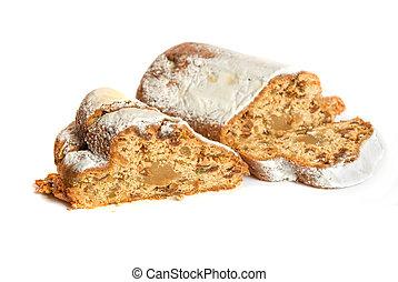 marchpane cake isolated on a white background
