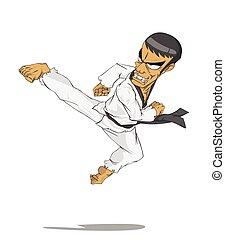 marcial, corea, master., taekwondo, arte
