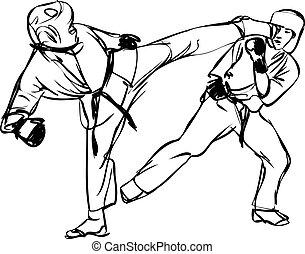 marcial, karate, deportes, kyokushinkai, artes