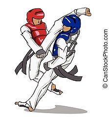 marcial, taekwondo., arte