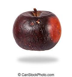 marcio, mela rossa, isolato