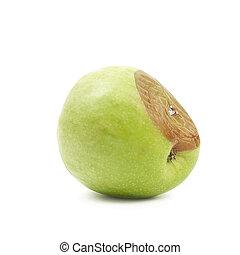 marcio, mela verde, isolato