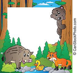 marco, 2, tema, bosque