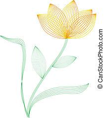 marco, alambre, flor