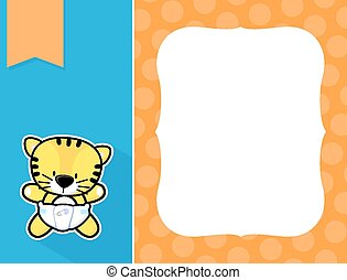 marco, bebé, tigre