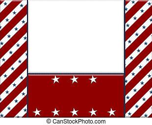 marco, blanco, su, medio, norteamericano, invitación, copy-space, mensaje, o, rojo, celebración