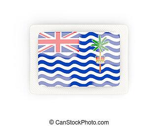 marco, británico, océano, bandera, indio, rectangular, carbón, territorio